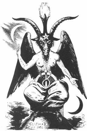 Picture of Baphomet by Eliphas Lévi in 1854