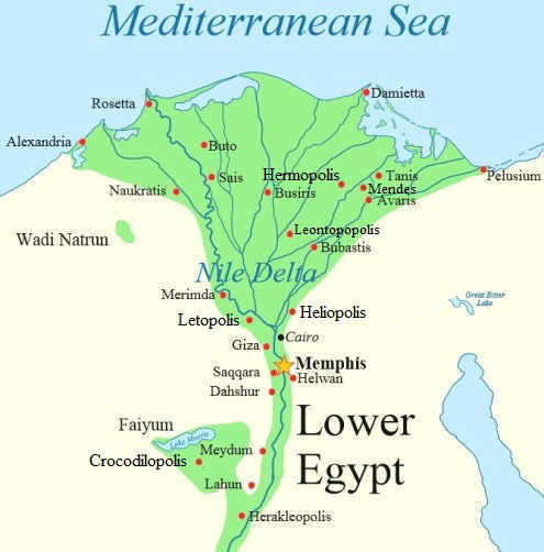 Ogdoad - Map of egypt upper and lower