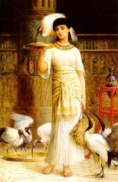 Priestess of Thoth and the sacred ibis